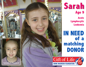 Poster about Sarah's search for a donor